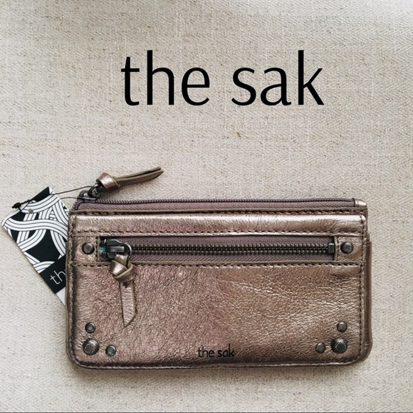 13001fbf385c The Sak Sanibel Leather Flap Wallet Pyrite